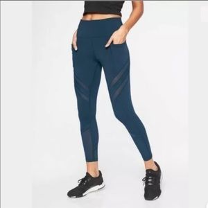 Athleta up for anything 7/8 mesh tight